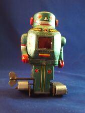 Original Vintage Metal NOGUCHI Tin Litho Space Mighty Robot Toy 5.5- Japan
