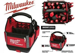 "Milwaukee Tool 48-22-8310 Packout, 10"", Storage Tote, Red New Free Shipping USA"