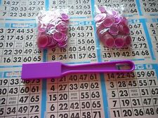 200 PURPLE MAGNETIC BINGO CHIPS WITH A PURPLE MAGNETIC BINGO WAND