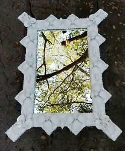 VINTAGE 70's ANTHONY REDMILE GROTTO STYLE SEASHELL ENCRUSTED WALL MIRROR