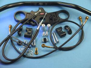 Abm Superbike Handlebar Kit Kawasaki ZX-10 R (ZXT00C) 04-05 Black