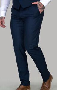 New Men's House Of Cavani Black/Navy Trousers  Size 40 R £19.99 Or BestOffer