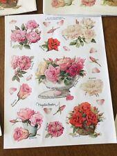 New ListingVintage Marjolein Bastin Floral Sticker Hallmark 11 Sheets.