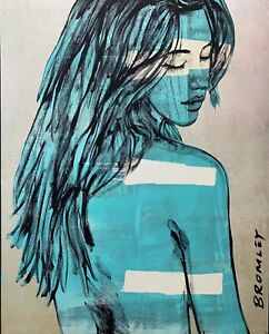 """DAVID BROMLEY Nude """"Jessica"""" Signed, Limited Edition Print, 90cm x 72cm"""