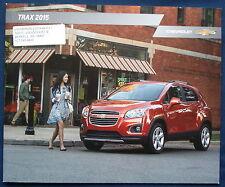 Prospekt brochure 2015 Chevrolet Chevy Trax (USA)