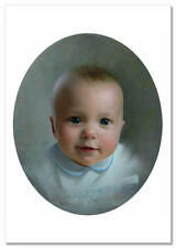 Pretty Little Baby Portrait ~ New Russian Modern Postcard