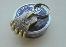 Grizzly claw snuff can label cutter-brushed brass color Skoal/Copenhagen-others
