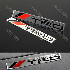 X2 TRD Car Body Trunk Emblem Badge Sticker Decal for Toyota Supra MR2 tC Tundra