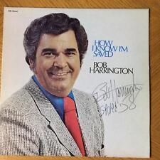 BOB HARRINGTON PASTOR / EVANGELIST SIGNED LP JACKET AUTOGRAPH