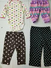 *4 piece 9 Month Girls Lot Carters Jumping Bean Leggings Pants Shirt Heart B4-23