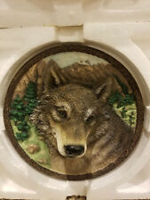 Faces of the Wild: The Wolf Collector Plate 3D 1st Issue Bradford Exchange