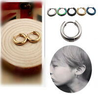 Surgical Steel Round Ring Hoop Hinged Segment Earring Bar Stud Tragus Cartilage
