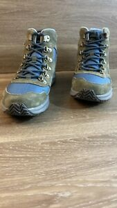 Merrell Ontario 85 Mid WP Olive/Blue Lace-Up Hiking Boots NWB Sz 8