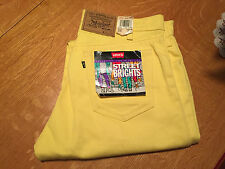 RARE 80'S LEVIS YELLOW STREET BRIGHTS 505 JEANS USA 36 X 36 NWT