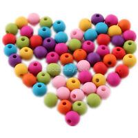 Free ship 200pcs Loose mixed color Matt acrylic spacer findings beads charms 6mm