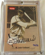 Stan Musial 2002 Authentic On Card Autograph 6/21 Fleer Greats Card 1/1
