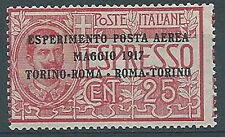 1917 REGNO POSTA AEREA ROMA TORINO MNH **  - RR532