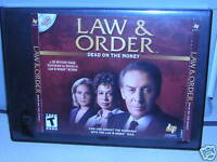 Law and Order: Dead on the Money for Windows, 3 Discs