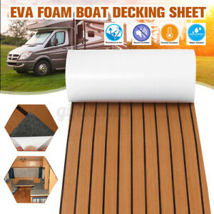 240x120CM Teak EVA Schaum Boot Yacht Selbstklebend Bodenbelag Deck Teppich Matt