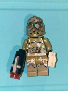 Custom Star Wars Minifigure Clone Commander Gree Captain Pauldron Visor Kama