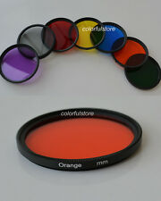 72 72mm Full Color Colour Red Purple Green Orange Yellow Blue Grey Gray Filter