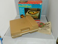 Vintage 1982 Fisher Price Portable Record Player Turntable #825 33 & 45 RPM