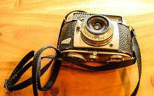 Balda Matic Kamera mit Baldanar 2.8/45mm Vintage + Ledertasche + Blitz Batacon