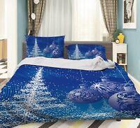 3D Christmas  Xmas 19 Bed Pillowcases Quilt Duvet Cover Set Single Queen King AU