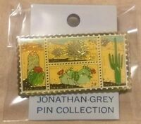 Vintage Desert 20 Cent USPS RARE Cactus Agave Stamp Jonathan-Grey COLLECTION Pin