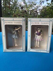 2 x Flower Fairy Serie 1 und Serie 4 Deko Figur Elfe Fee Blumenkind mit OVP