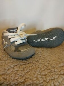 New Balance Size 2  Month Boys Girls Infant Athletic Shoes  Grey NEW NO BOX.(S1)