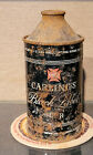 1949 CARLING BLACK LABEL HIGH PROFILE CONE TOP BEER CAN IRTP CLEVELAND OHIO