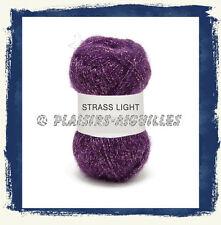 8 Pelotes de laine STRASS LIGHT 25 G VIOLINE neuves