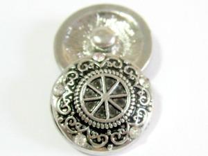 Click System Druckknopf Schmuckgestaltung Metall Ornament Glitzer 18 mm