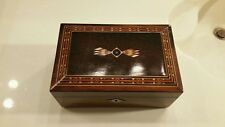 Antique 20th Century Inlaid Italian Rosewood Jewelry Box Victorian