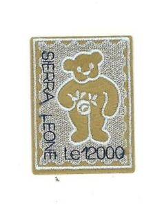 Sierra Leone 2003 -  Embroidered Cloth Teddy Bear Postage Stamp  - MNH