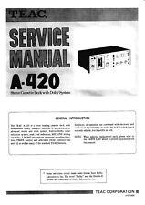 Service Manual-Anleitung für Teac A-420