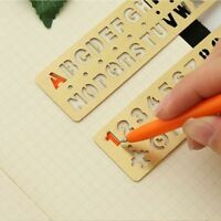 Numbers Letters Hollow Ruler Brass Stationery Drawing Graffiti Template