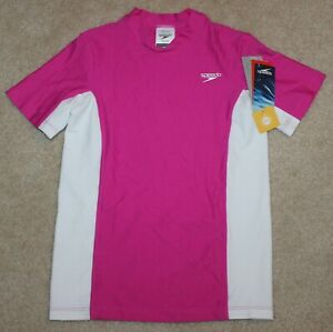 New! Girls Speedo Rashguard Shirt (Swim; UV50+) - Small 7-8, Large 14, XLarge 16