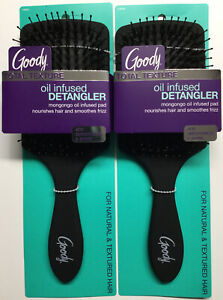 """""""2 Pk"""" Goody Total Texture -Oil Infused- Detangler Hair Brushes (Smoothes Frizz)"""