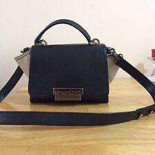 Ladies Zac Posen Bi-color LEATHER Trapeze Shoulder Bag