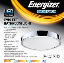Adjustable Colour Temperature Energizer LED Bathroom Ceiling Light Fitting IP44