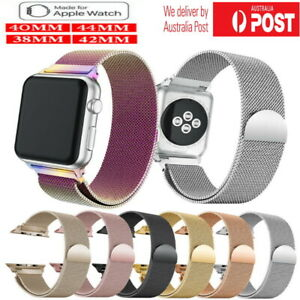 Milanese Mesh Magnetic Clasp Stainless Steel band for Apple iWatch Series 5 4 3