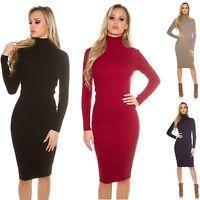 Women's Fine Knit Turtleneck Midi Dress - One Size (S/M/L)