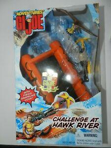 GI Joe 12'' CHALLENGE  AT HAWK RIVER, BOXED RAFT AN EAGLE. NO FIGURE.
