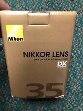 NEW Nikon 35mm f/1.8G AF-S DX NIKKOR Lens for Nikon DX Digital SLR Cameras - USA