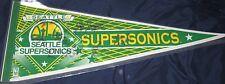 1996 Seattle Supersonics Team SIGNED Pennant COA Autographed PAYTON MCMILLAN ++