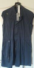 ❤️ Fender G-star Vestido de la señora vestido azul sin mangas de la camisa larga M ❤️ imprescindible