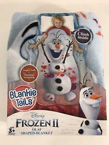 "Blankie Tails Frozen II Olaf Shaped Blanket Super Soft  54"" x 30"" NEW"