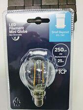 10 x TCP LED 2W/25W Filament Mini Globe Bulb Small Bayonet B15/SBC 343155